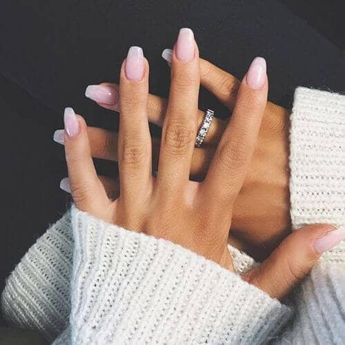 21) Clean and Simple Long Fake Nails - 50 Stunning Acrylic Nail Ideas To Express Your Personality