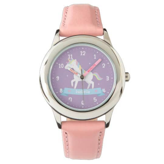 Cute White Unicorn Girls Watch