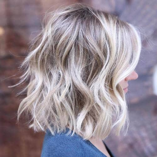 Wavy Short Shoulder-Length Lob