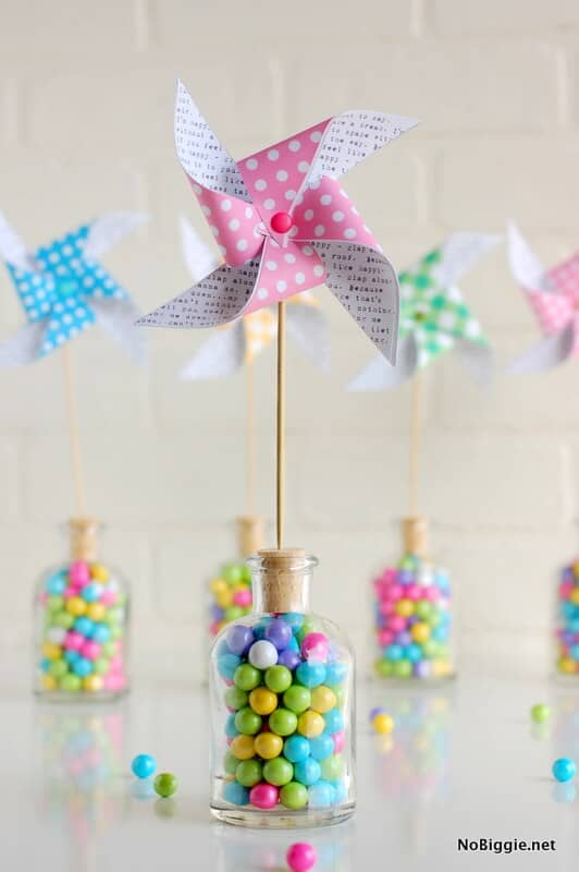 Pinwheels on a Corked Jar