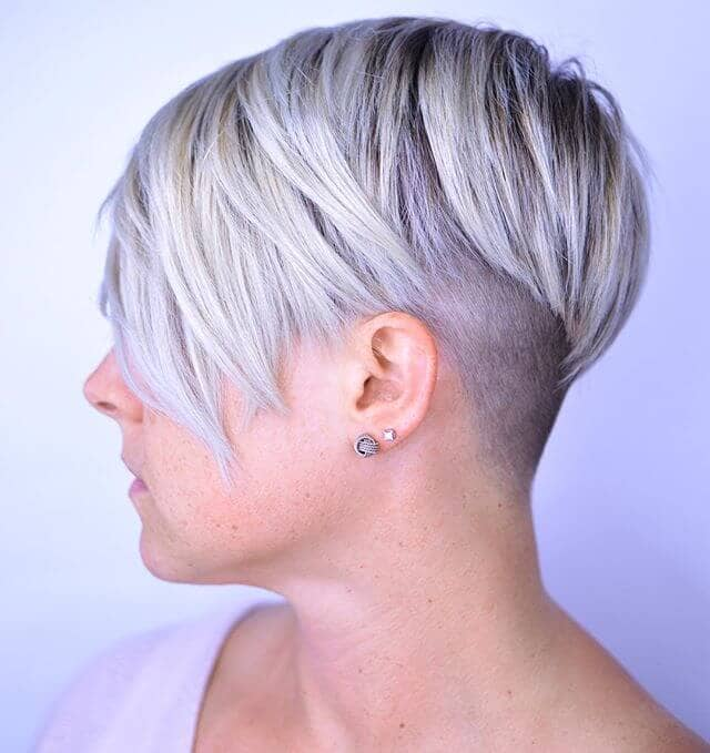 Edgy Cut with Silvery Blonde