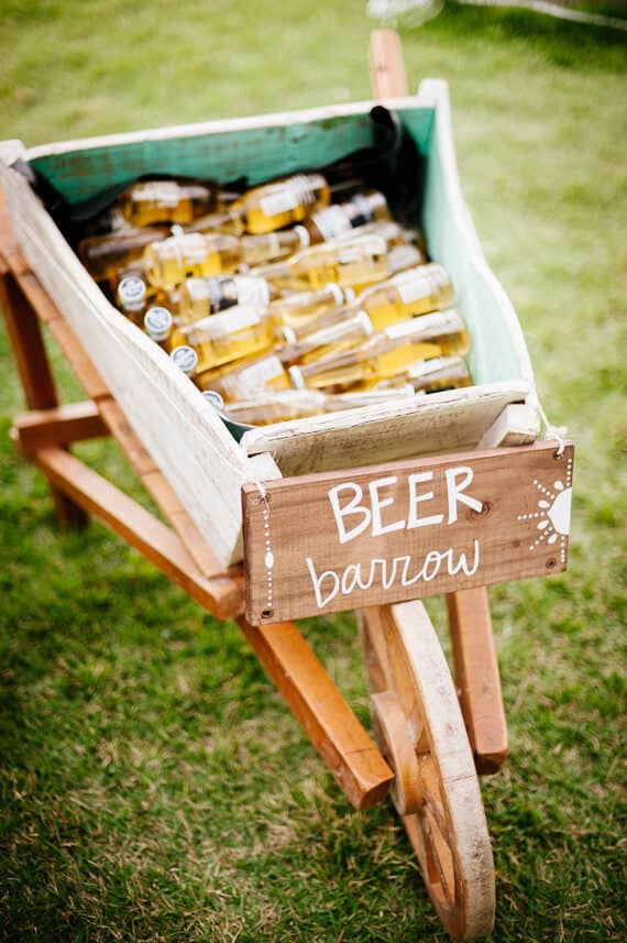 Clever Hand-lettered Beer Bucket