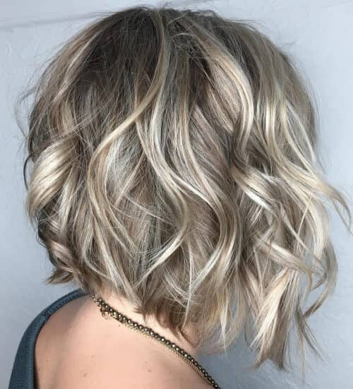 Cool Blonde Face Framing Curls