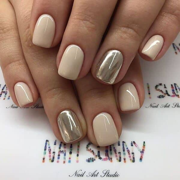 Creme Ivory and Gold Chrome