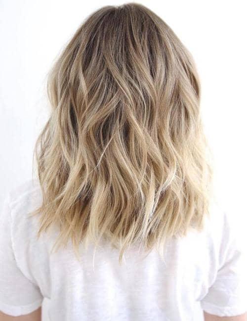 Kardashian Style Wavy Blonde Lob