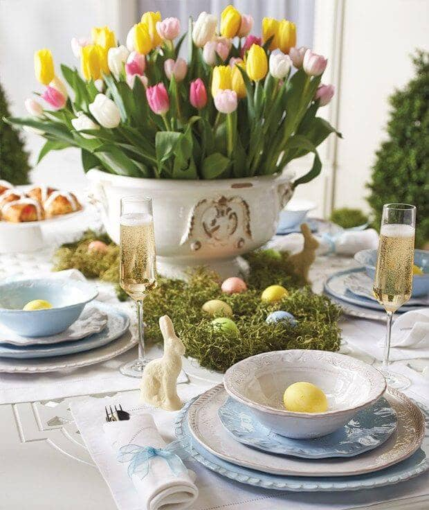 Gorgeous Colorful Easter Centerpiece