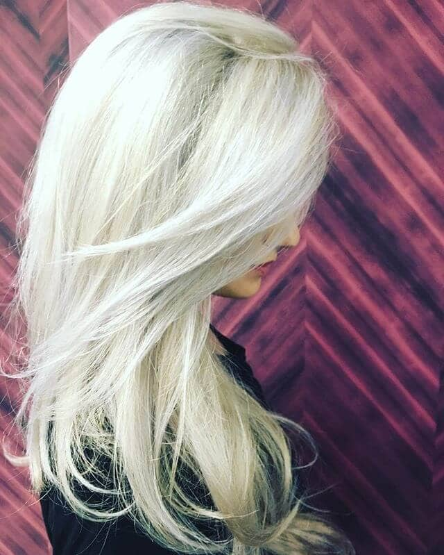 Bright Blonde with Framing Layers