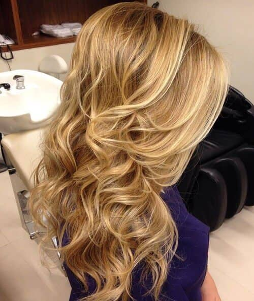 Lovely Buttery Blonde Layered Hair