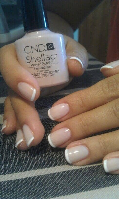 Traditional French Manicure with Shellac