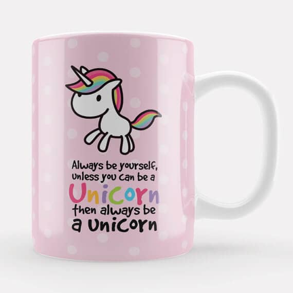 Cute Pink Unicorn Mug