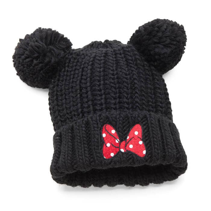 Minnie Mouse Pompom Beanie