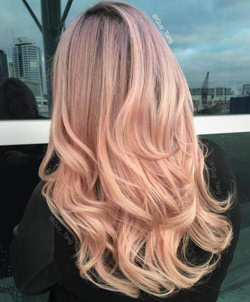 Long Strawberry Pink Layered Hair