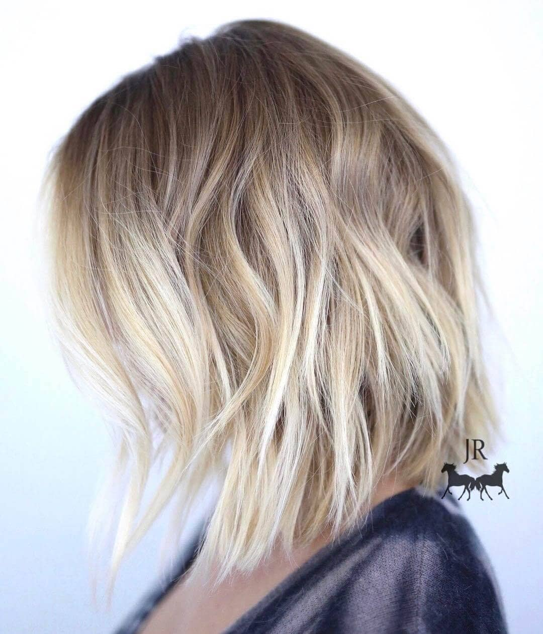 Cool Ash Blonde Textured Bob