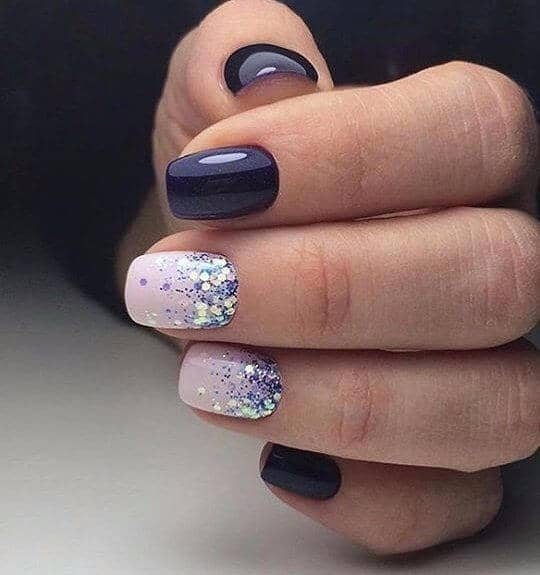 36) A Kiss of Sparkle - 50 Dazzling Ways To Create Gel Nail Design Ideas To Delight In 2018