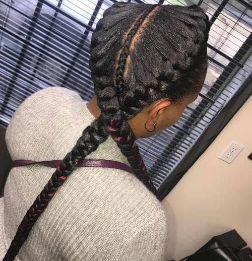 An Entirely Braided Part