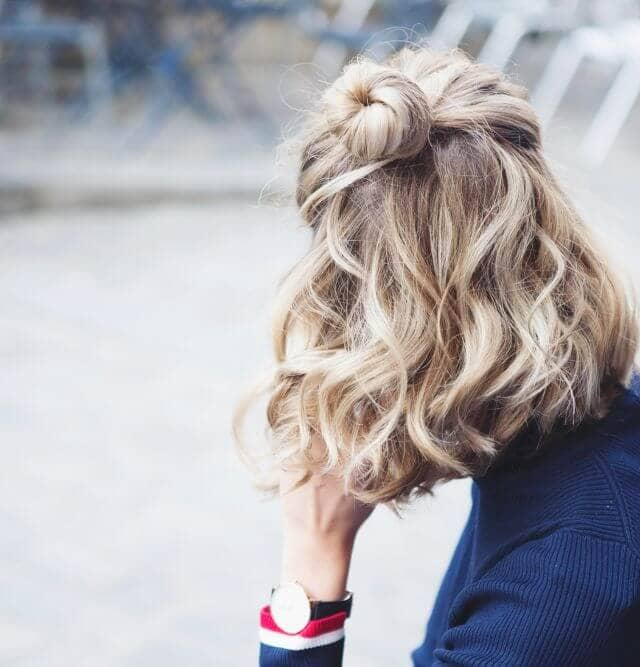 Half-up Bun Pretty Hairstyle