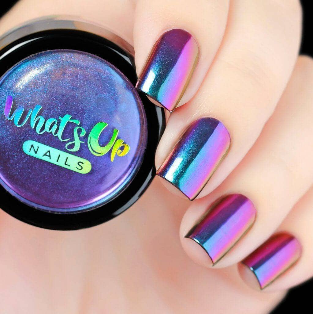 38) Gorgeous Galaxy Holographic Nails