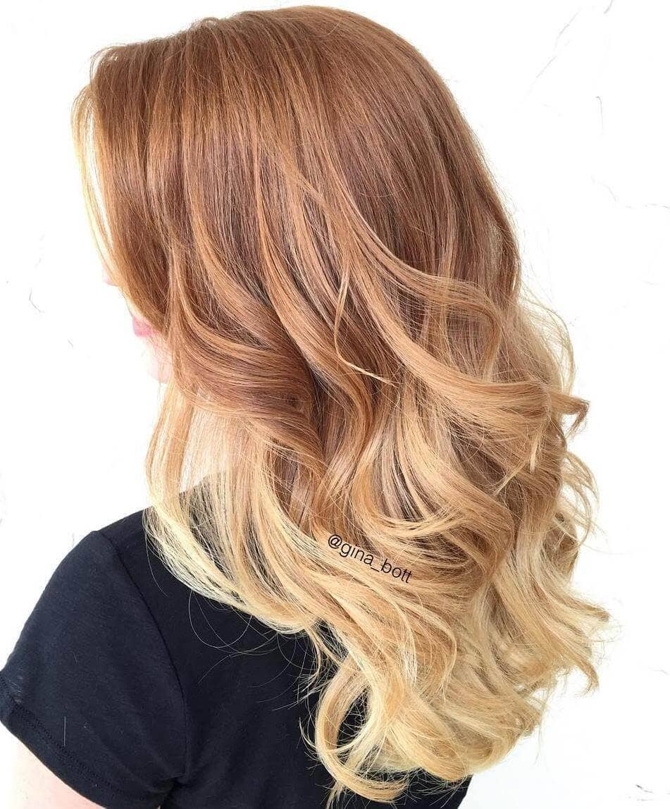 Sweet Strawberry Blond-bre Hair Color
