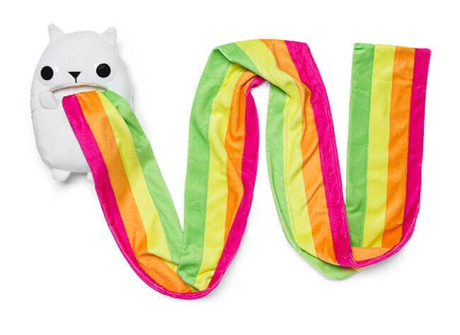 Exploding Kittens Rainbow Ralphing Cat Scarf