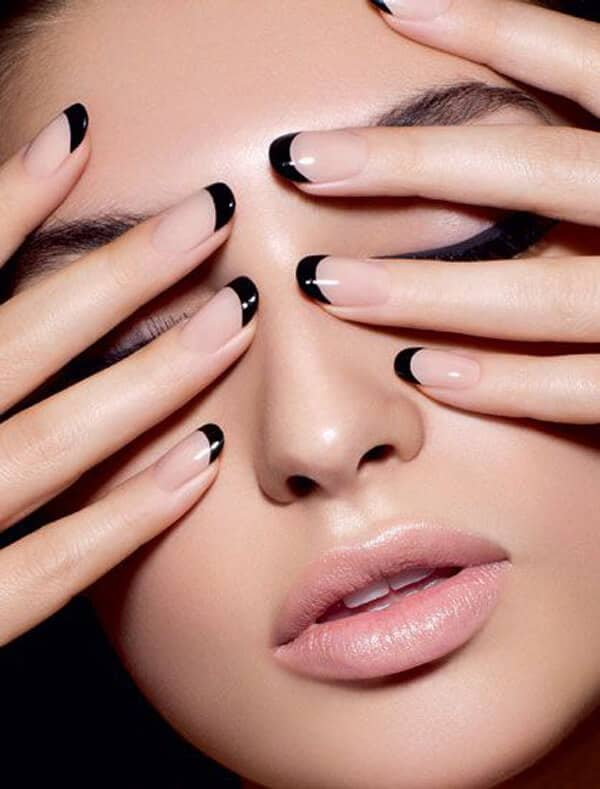 French Noir Nails
