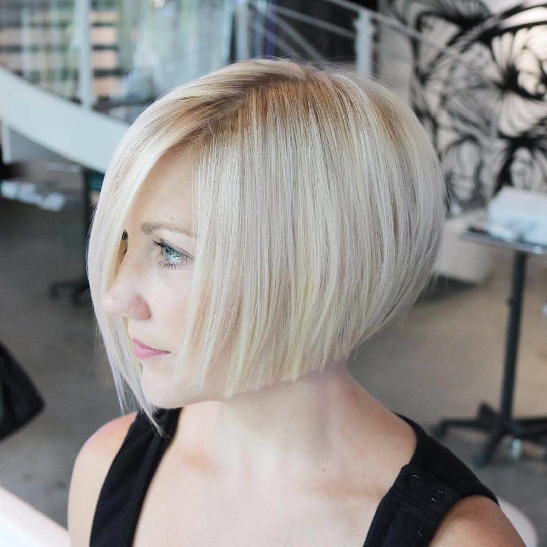 Chic Platinum Bob for Fair Skin