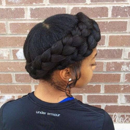 A Sophisticated Crown Braid