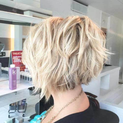 Messy Waves on Choppy Platinum Bob