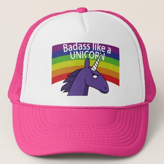 Bad Ass Unicorn Trucker's Cap