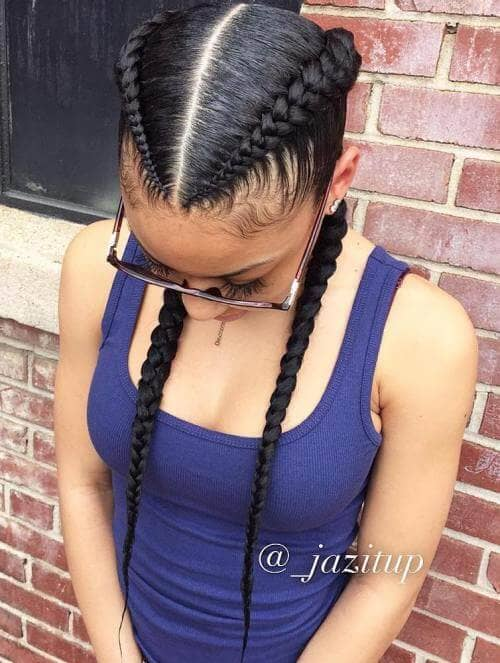 Sporty Pigtail Braids for a Casual Look