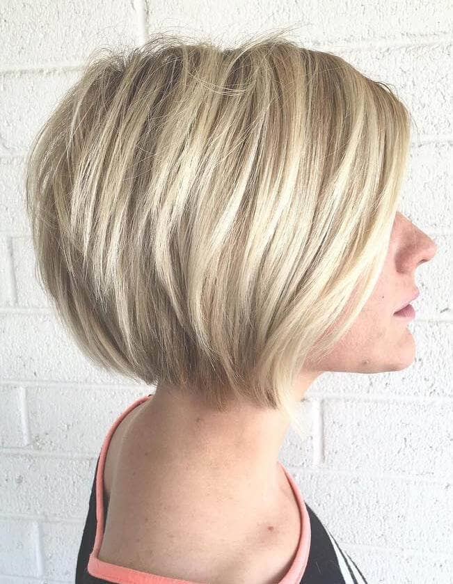 Cute and Sweet Traditional Blonde Bob
