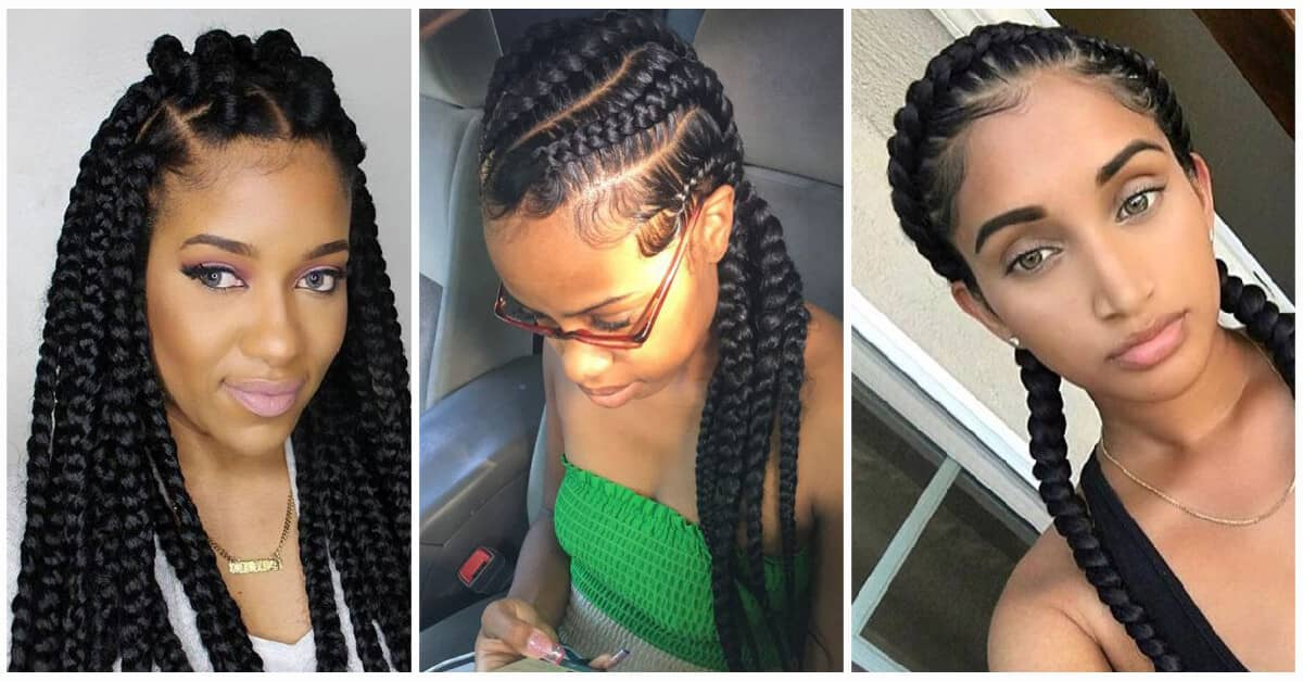 50 Natural And Beautiful Goddess Braids To Bless Ethnic