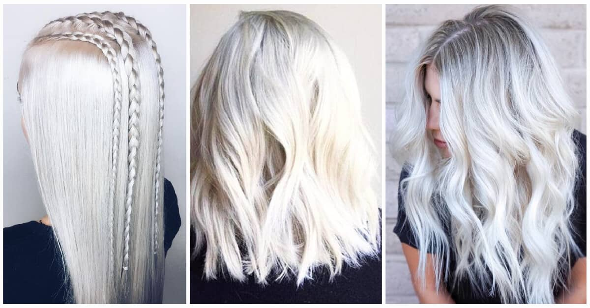 Silver and platinum blonde hair color maybe