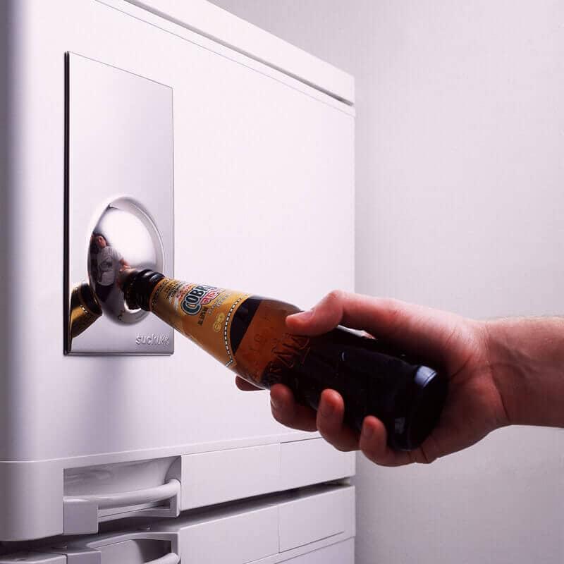 ConvenientChrome Bottle Opener Fridge Magnet