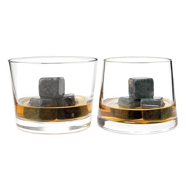 Attractive Whiskey Stones and Rocks Glass Set