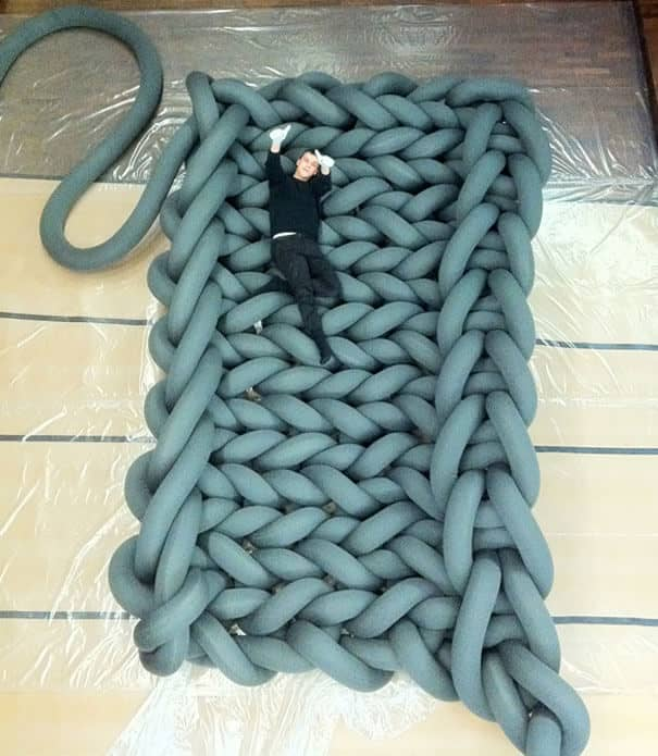 Awesome Giant Knitted Modern Bed