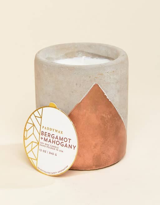 Relaxing Paddywax Bergamot and Mahogany Scented Candle