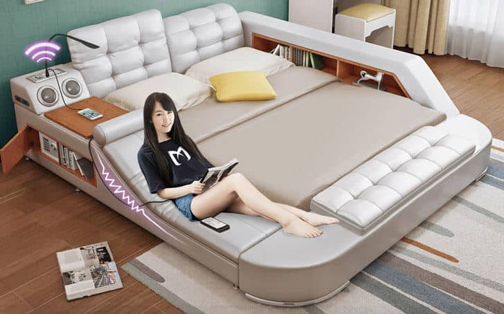 Tech-Friendly Multifunctional Couch Bed Combo