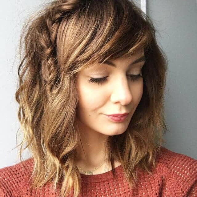 Side Swept Bangs with a Fun Braid