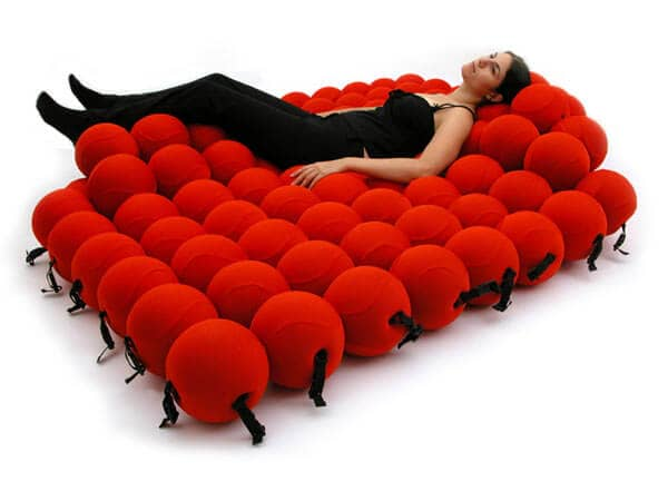 "Conceptual Art Red ""Bead"" Bed"