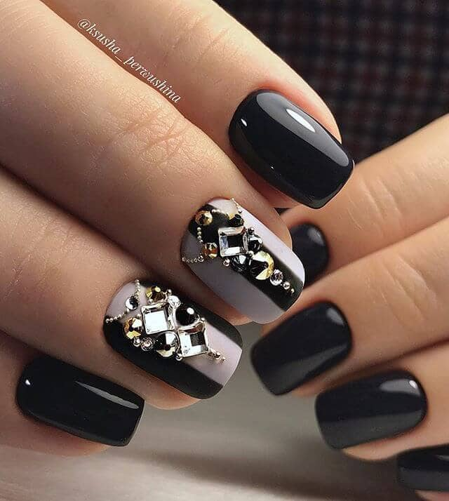 50 Dramatic Black Acrylic Nail Designs to Keep Your Style On Point