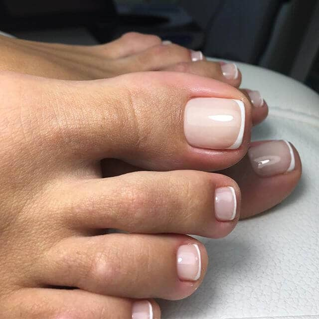 Classic French Pedicure Designs