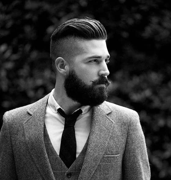 A Dapper and Simple Undercut with a Beard