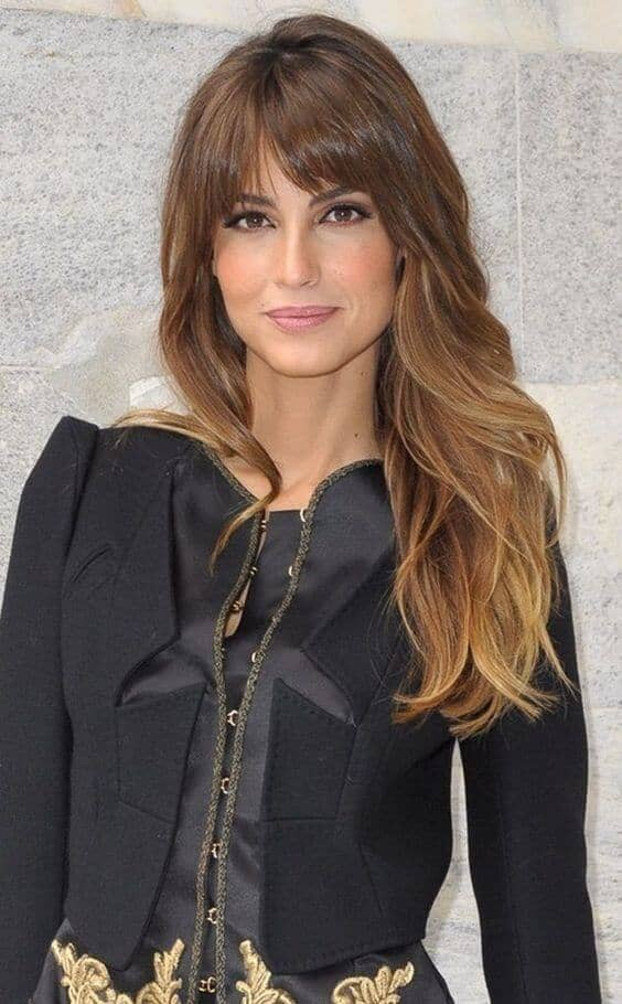 Hair Cut Idea with Smooth Bangs