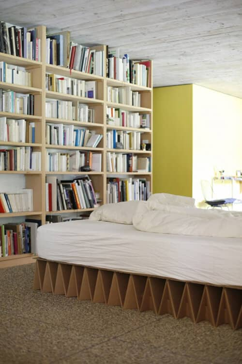 Simple Platform Bed With Geometrical Cool Designs