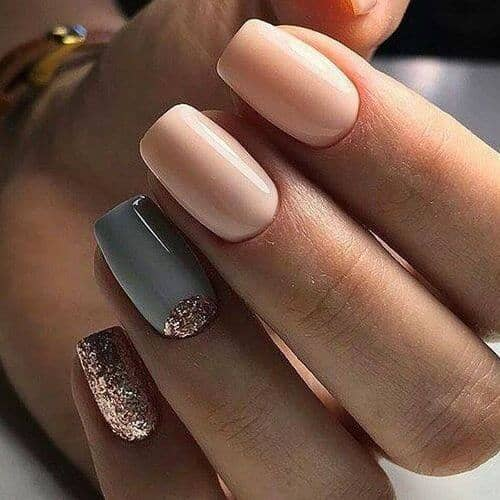 Metallic Nails with a French Accent