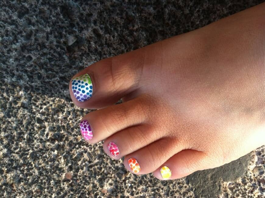 Twist on the Rainbow Polka Dots