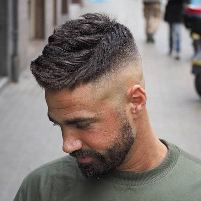 A High Bald Fade Undercut Design