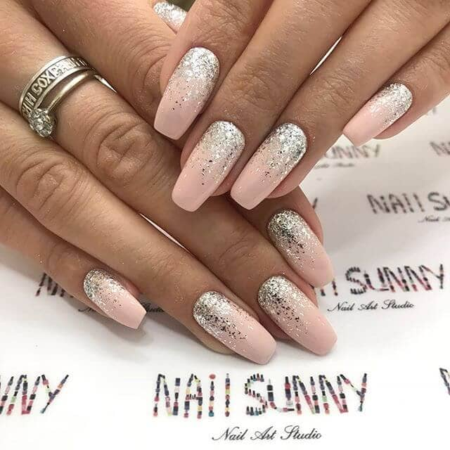 Glitter Nails with Ombre Style