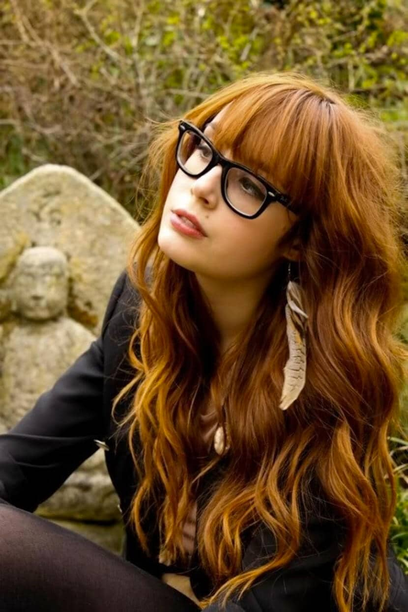 One of the Prettiest Long Hairstyles with Bangs