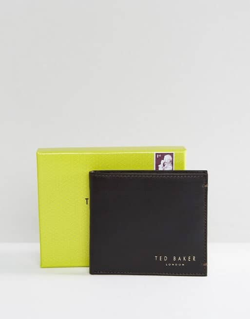 Classy Ted Baker Leather Billfold Coin Wallet